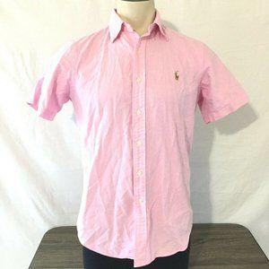 Ralph Lauren Men's Short Sleeves Shirt Red Size S